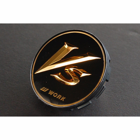 "WORK VS-XX ""VS""  20"" Centercap - Black/Gold  (Small Base)"
