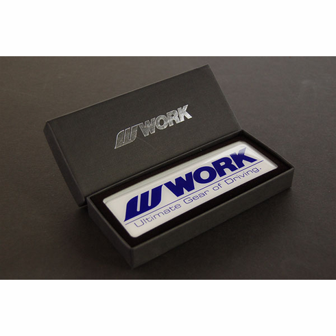 WORK Wheels Emblem (White & Blue)