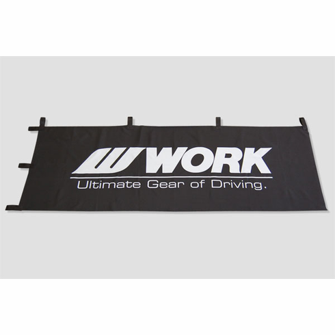 WORK Wheels Flag (Black w/ Tabs)