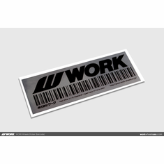 WORK Wheels Sticker (Barcode)