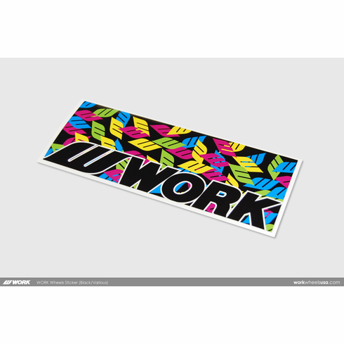 WORK Wheels Sticker (Black/Multi)