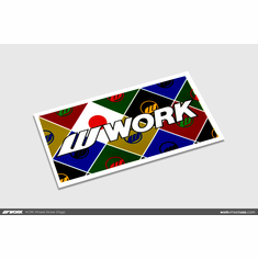 WORK Wheels Sticker (Flags)