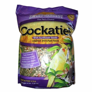 Sweet Harvest Vitamin Enriched Cockatiel with Sun 4lb