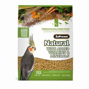 ZuPreem Natural Maintenance Cockatiel Medium