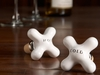 Hot & Cold Porcelain Cross Wine Saver Stoppers