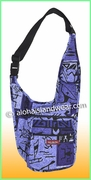 Large Hawaiian print Messenger Bag - 14-261Purple