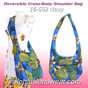 Reversible Cross-Body Shoulder Bag - 502Navy