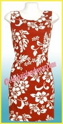 Silhouette HIbiscus Hawaiian Tank Dress - 354Red