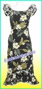 Hawaiian Island Dress - 403Black