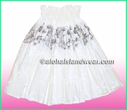 Hula Pa'u Skirt  - 412White/Black
