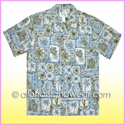 Island Design Inverted Hawaiian Shirt - 519Blue