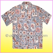 Island Design Inverted Hawaiian Shirt - 519Red