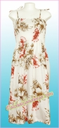 Full Length Hawaiian Smock Dress - 417White