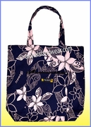 Aloha Tote Bag w/Top Zipper - 803Black