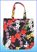 Aloha Tote Bag w/Top Zipper - 907Black