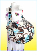 Large Hawaiian Print Travel/Gym Workout Carry-On Bag - 133hocolate/Blue
