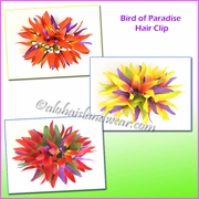 Bird of paradise Hair clip