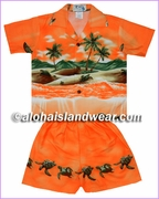 Boy Cabana Set - 460Orange