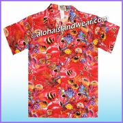 Boy Hawaiian Shirt - 182Red
