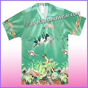 Boy Hawaiian Shirt - 353Green