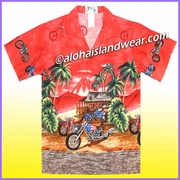 Boy Hawaiian Shirt - 355Red