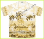 Boy Hawaiian Shirt  - 401Yellow