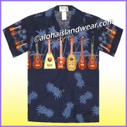 Boy Hawaiian Shirt - 407Navy