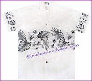 Boy Hawaiian Shirt - 412White/Black