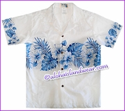 Boy Hawaiian Shirt - 412White/Blue