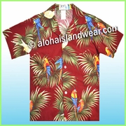 Boy Hawaiian Shirt - 422Red