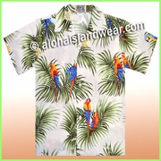 Boy Hawaiian Shirt -422White