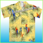 Boy Hawaiian Shirt - 422Yellow