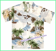 Boy Hawaiian Shirt - 478White