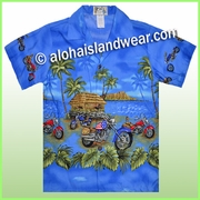 Boy Hawaiian Shirt  - 445Navy