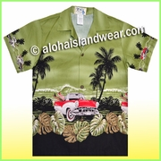 Boy Hawaiian Shirt - 463Green