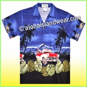 Boy Hawaiian Shirt - 463Navy