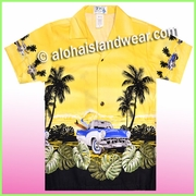 Boy Hawaiian Shirt - 463Yellow