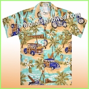 Boy Hawaiian Shirt - 464Green