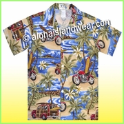 Boy Hawaiian Shirt - 464Navy