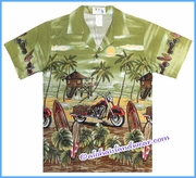 Boy Hawaiian Shirt - 481Green