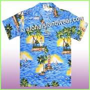 Boy Hawaiian Shirt - 508Blue
