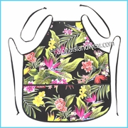 Unisex Canvas Hawaiian Print  Apron