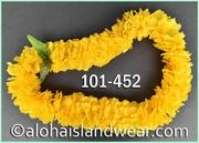 Carnation Single Lei - Yellow