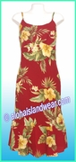 Classic Rayon Sun Dress - 820Red