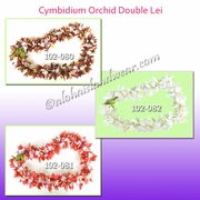 Cymbidium Orchid Double Lei