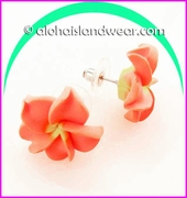 Fimo Plumeria Flower Earrings