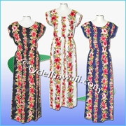 Full Length Hawaiian Luau Dress - 254