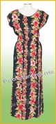 Full Length Hawaiian Luau Dress - 254Black