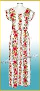 Full Length Hawaiian Luau Dress - 254Cream