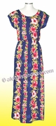 Full Length Hawaiian Luau Dress - 254Navy